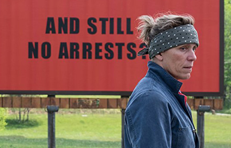 "Bildnachweis: © Fox | Szene aus ""Three Billboards Outside Ebbing, Missouri"""
